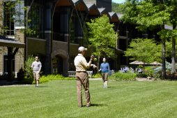 Fly FIshing- Casting Class at The Lodge at Woodloch