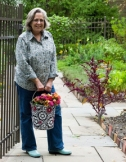 15 September 2011: Alison Peck photographed in front of the chef's garden at the Lodge at Woodloch in Hawley, Pennsylvania. Mandatory Credit: Alex Cena..